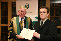 NUI Chancellor Dr Maurice Manning and Dr Owen McGee