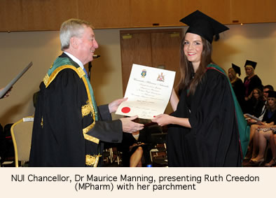Chancellor Presenting Ruth Creedon with her