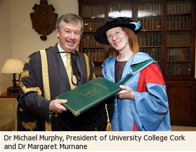 Dr Michael Murphy , President of University College Cork and Dr Margaret Murnane