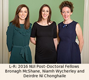 L-R: 2016 NUI Post-Doctoral Fellows 