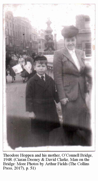 Theodore Hoppen and his mother, O'Connell Bridge, 1948