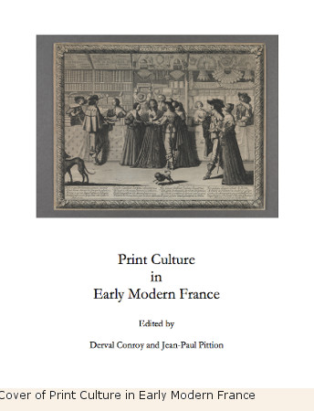 Cover of Print Culture in Early Modern France
