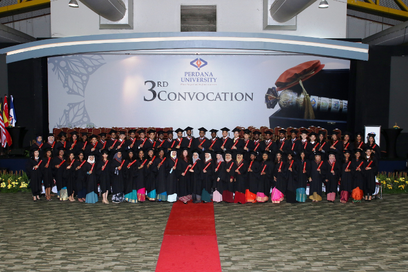 Perdana University graduates at Conferring Ceremony, 7 Oct 2018