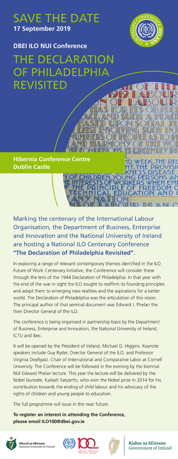 The Declaration of Philadelphia Revisited Save Date