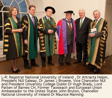 Dr Hugh Brady NUI Vice Chancellor President UCD and Lord Patten of Barnes CH