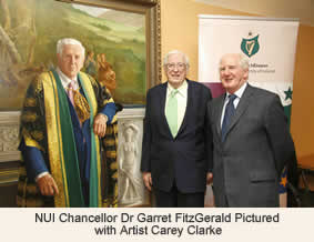 NUI Chancellor Dr Garret FitzGerald with Artist Carey Clarke