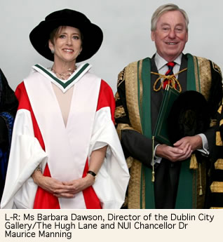 Ms Barbars Dawson Director of the Dublin City Gallery/The Hugh Lane and NUI Chancellor Dr Maurice Manning
