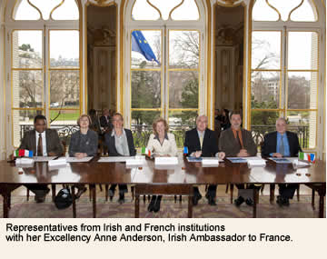 Representatives of Universities and institutions with Ambassador to France